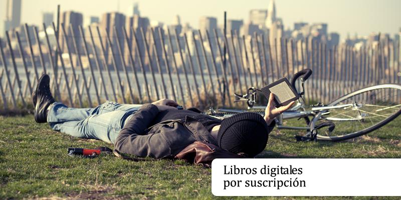 Servicios de suscripción de libros digitales.