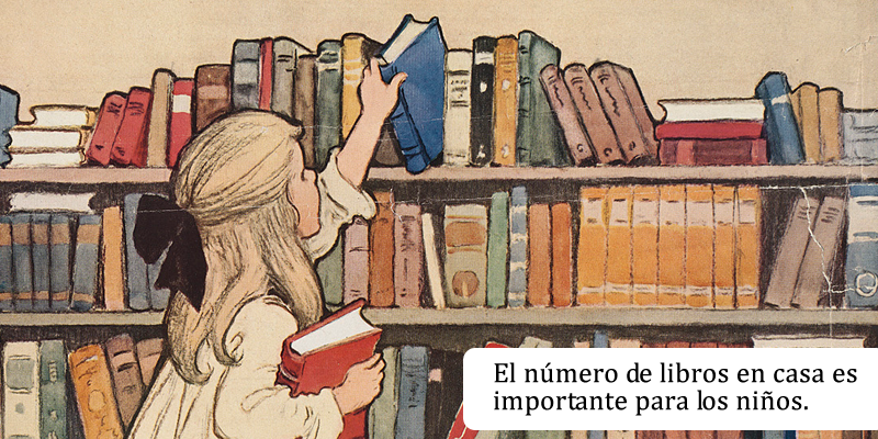 El número de libros en casa es importante para los niños.