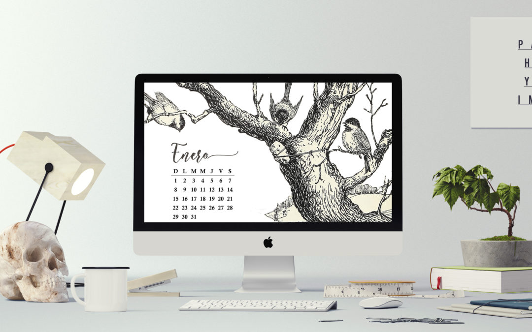 Calendario de enero 2017 para dispositivos electrónicos